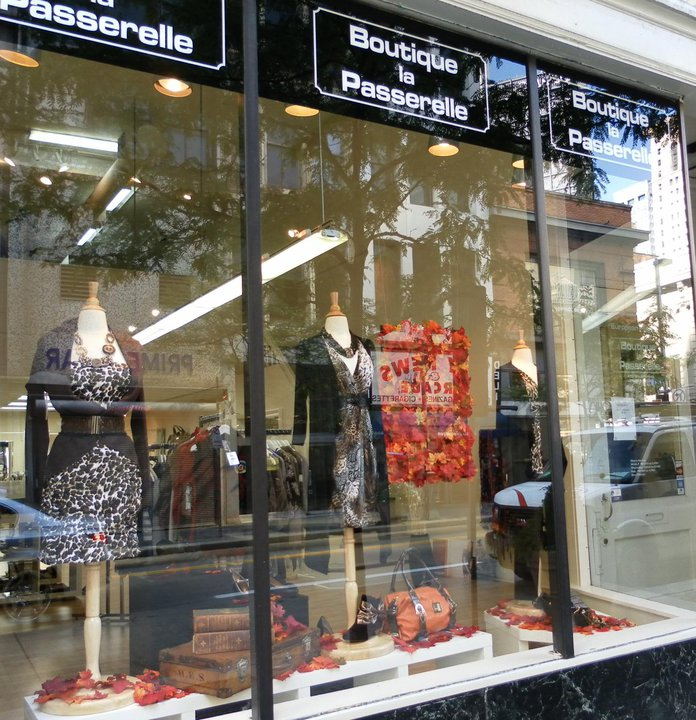 The storefront of Boutique La Passarelle. Photo courtesy of Boutique La Passarelle's Facebook page.