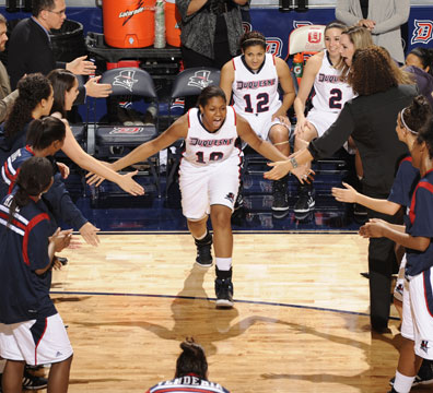 photo courtesy of Duquesne University Eddie Benton will help lead the Duquesne University women's basketball team this season.