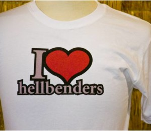The Fallingwater Museum Gift Shop sells T-shirts for hellbender lovers. Courtesy of Fallingwater.