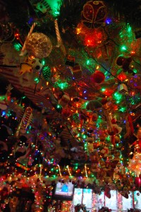 The decorations inside Bob's Garage cover almost every inch of the walls. Photo by Emily Balser, Point Park News Service.