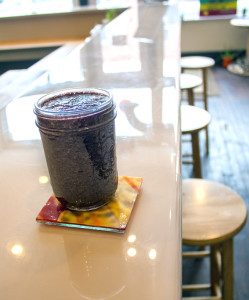 "The ""Embody"" smoothie is made with blueberry, apple, kale, and banana. Photo: Shelby Horne 