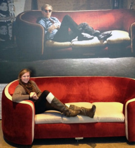 Writer Abigail Mathieu gets her 15 minutes of fame at the Warhol. Photo: Submitted