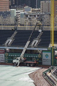 Preparations are underway at PNC Park for Opening Day on March 31. Photo: Matt Nemeth | Point Park News Service