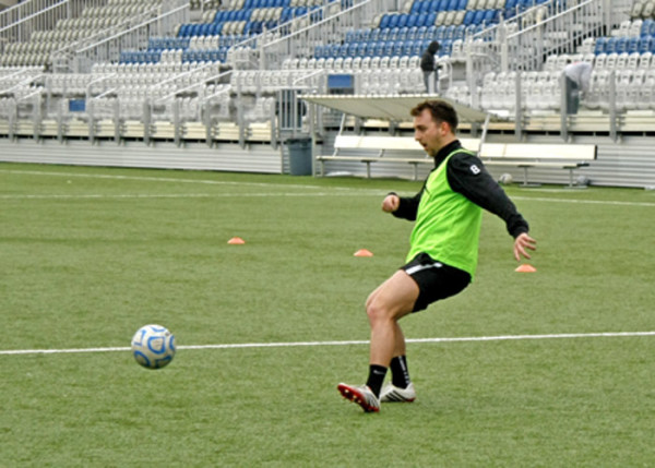 Jonty Loukes of Sheffield, England, plays soccer for Point Park University. Lauren Finkel | Point Park News Service