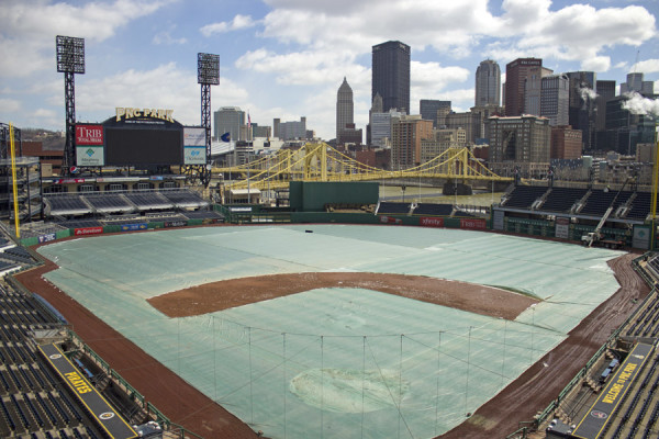 Preparations are under way at PNC Park for Opening Day on March 31. Photo: Matt Nemeth | Point Park News Service