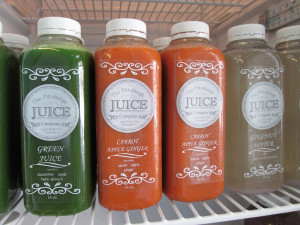 Some of the juices offered at The Pittsburgh Juice Company, 3418 Penn. Ave., in Lawrenceville. Emily Balser   Point Park News Service