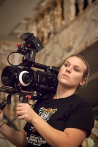 """Heidi Schlegel, 23, of Regent Square, works as producer and assistant director on an independent film being shot in Pittsburgh called """"Roses are Red."""" Submitted photo."""