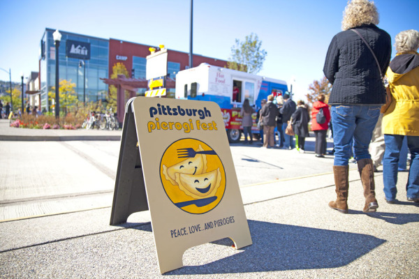 Diners line up to buy pierogies at last year's festival. This year's event will be noon-5 p.m. Oct. 18 at Stage AE, North Shore. <br /> Submitted photo: Christina Shields