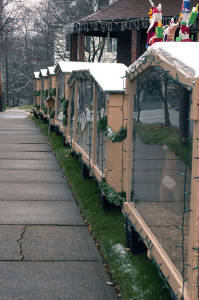 Christmas boxes are on display at the Buzards' home in Zelienople, Butler County. Photo: Phillip Poupore | Point Park News Service