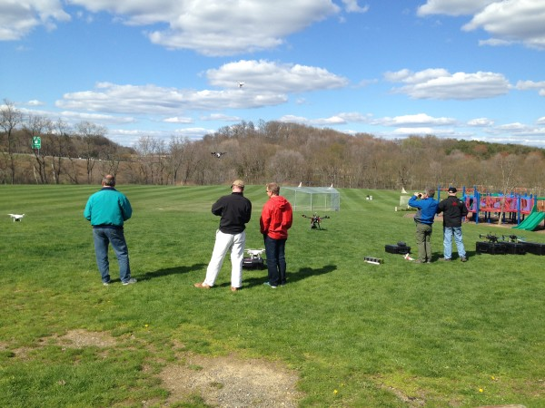 Pittsburgh Drone Masters fly UAS in Blueberry Hill Park in Sewickley, Pa.