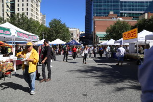 The farmer's market takes place every Thursday in Market Square from 10 a.m. to 2 p.m. Photo by Emily Koch, Point Park News Service.