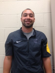 Steven Samolovitch, the UPMC Sports Medicine trainer at Thomas Jefferson High School,  Photo by Sara Mackulin.