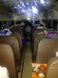 """The bus filled up with presents for parents in need to pick out for their children's Christmas presents at """"Stuff-a-bus."""" Photo by Gina DiGiorgio, Point Park News Service."""