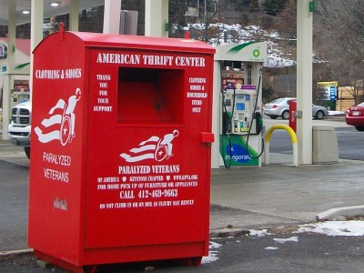 Clothing donation boxes offer chances — and choices