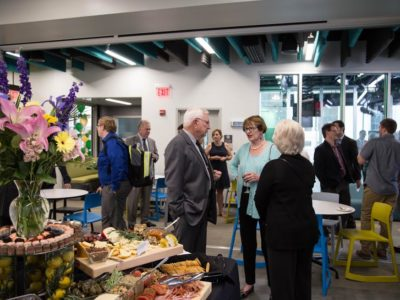 CMI reception presents new building to alumni