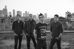 Members of Anti-Flag, Pat Thetic second in from the left. Submitted photo: Anti-Flag, Megan Thompson