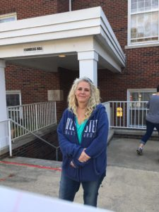 Bethel Park resident Tawnie Krzyanowski outside a polling location. Photo by Jacob Biernacki, Point Park News Service