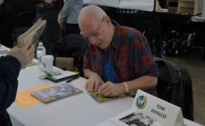 Tom DeFalco spoke and signed autographs for fans at Pittsburgh Comic Con. Photo credit: Neil Strebig, Point Park News Service