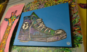 Piece done by Batch that follows his pop art style. Photo by Tyler Polk, Point Park News Service
